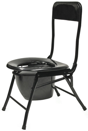 World Famous Folding Portable Toilet Chair Heavy Duty Steel Frame