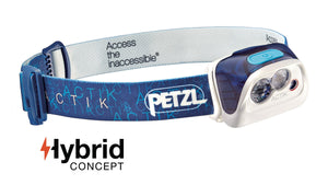 Petzl ACTIK Headlamp, 300 lumens, multi-beam, red light, reflective band