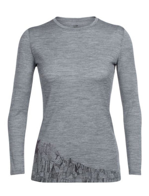 Icebreaker Merino Women's Tech Lite Long Sleeve Crewe Alpenglow