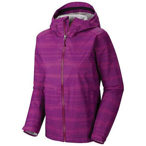 Mountain Hardwear Womens Plasmic Geo Rain Jacket - Waterproof  DryQ Evap
