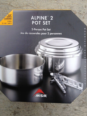 MSR Alpine 2 Pot Set- Stainless Steel 3 pc with Pot Grips