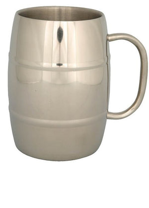 North49 Stainless Steel Double Wall Insulated Beer Mug, 500mL
