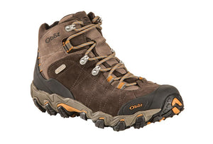 Oboz Bridger Mid BDry Hiking Boot, Mens, Rubber Outsole, Leather Upper