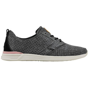 Reef Women's Rover Low Prints Sneakers Black Dots