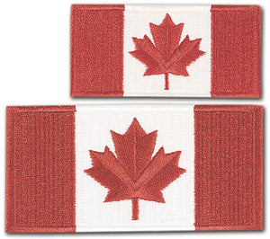 North 49 Canada Flag Sew on Crest 2.4 x 1.85""