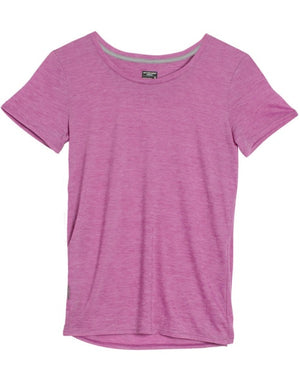 Icebreaker Women's Cool-lite Sphere Short sleeve Crewe Strip -Merino wool