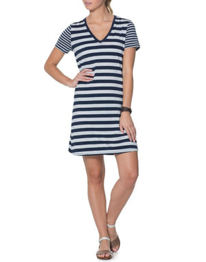 Icebreaker Tech Lite Short Sleeve V Neck Merino Travel Dresses X-Small