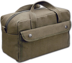 World Famous Canvas Tool Kit Bag, Olive, Designed from U.S. Army Issue