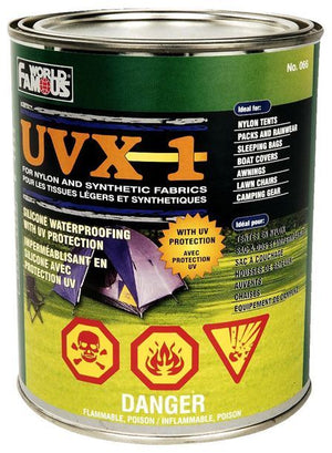 World Famous UVX 1 Waterproofing Protector for Nylon