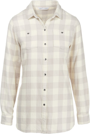 Woolrich Buffalo Check Boyfriend Tunic Flannel Shirt, Womens