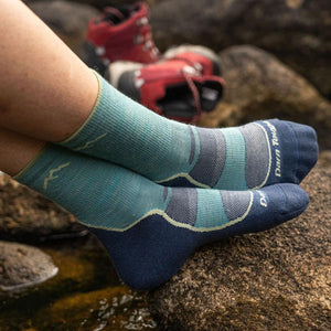 Darn Tough Womens Light Hiker Micro Crew Lightweight Hiking Socks