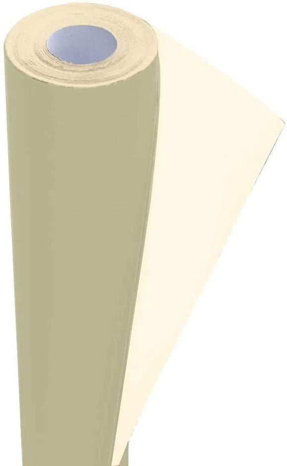 3Ace Crafts Card and Display Poster Paper Roll - 10m - Paper Perfect Ideal for Wrapping, Craft, Packing, Parcel, Table Runner School Notice Boards - 76cm Width Approx (Cream White)
