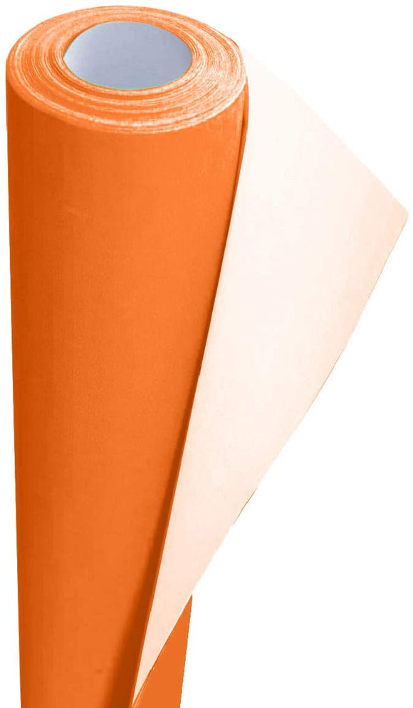 3Ace Crafts Card and Display Poster Paper Roll - 10 M - Paper Perfect Ideal for Wrapping, Craft, Packing, Floor Covering, Parcel, Table Runner School Notice Boards - 76cm Width Approx (Fire Orange)