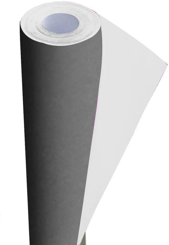 3Ace Crafts Card and Display Poster Paper Roll - 10m - Paper Perfect Ideal for Wrapping, Craft, Packing, Parcel, Table Runner School Notice Boards - 76cm Width Approx (Grey)