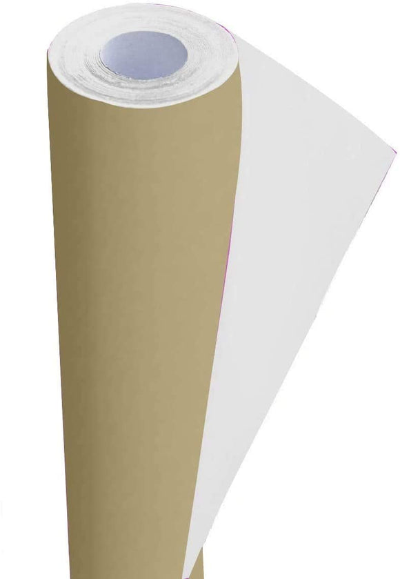 3Ace Crafts Card and Display Poster Paper Roll - 10m - Paper Perfect Ideal for Wrapping, Craft, Packing, Parcel, Table Runner School Notice Boards - 76cm Width Approx (Hessian)