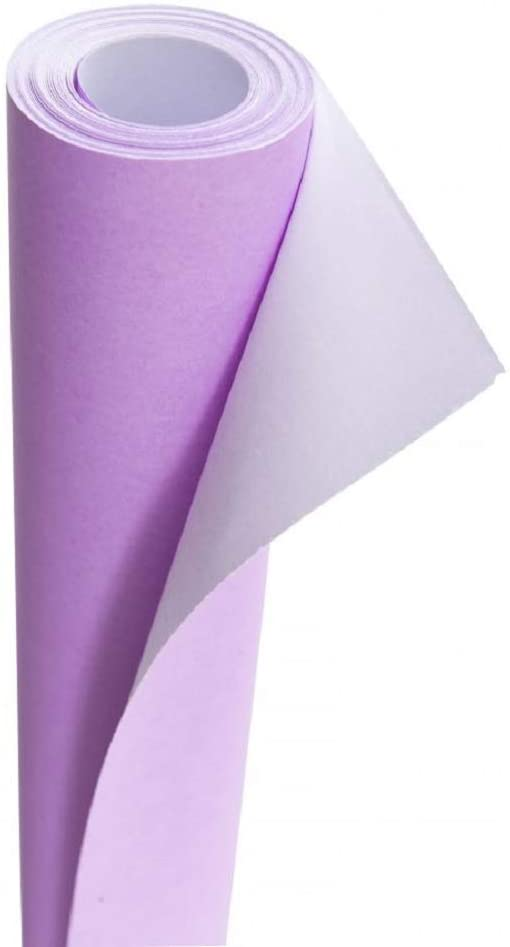 3Ace Crafts Card and Display Poster Paper Roll - 10 M - Paper Perfect Ideal for Wrapping, Craft, Packing, Floor Covering, Parcel, Table Runner School Notice Boards - 76cm Width Approx (Lilac)