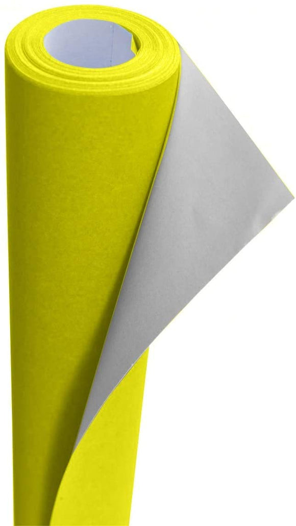 3Ace Crafts 95gsm Centura Neon Poster Paper Roll - 760 x 10m Fluorescent Coated Paper Ideal for Luxury Cartons Boxes, Promotional Advertising, Greeting Cards, Envelopes, Gift Wrap (Neon Yellow)