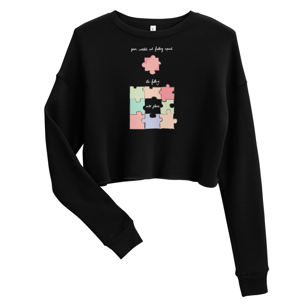 """falling into place"" Cropped Sweatshirt by Madelyn Rose"