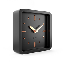 Load image into Gallery viewer, Driini Modern Mid Century Desk and Table Analog Clock (Black Rose Gold)