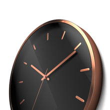 "Load image into Gallery viewer, Driini Modern Rose Gold Aluminum Analog Wall Clock (12"")"