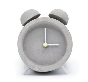 Driini Concrete Minimalist Shabby Chic Table Desk Clock