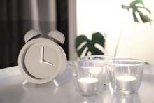 Load image into Gallery viewer, Driini Concrete Minimalist Shabby Chic Desk Clock Scene