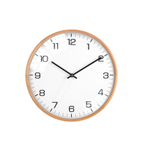 "Load image into Gallery viewer, Driini Analog Dome Glass Wall Clock (12"", White)"