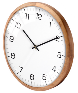 "Driini Analog Dome Glass Wall Clock (12"", White)"