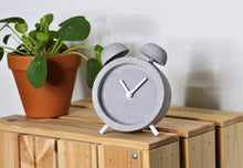 Load image into Gallery viewer, Driini Concrete Minimalist Shabby Chic Desk Clock Scene2