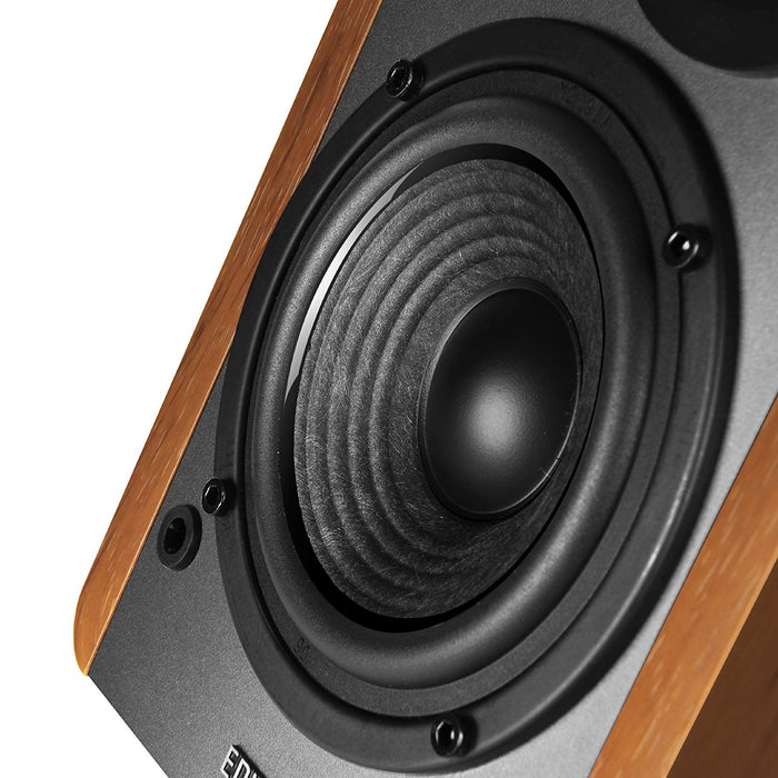 Edifier R1280DB Active Remote Control Bookshelf Studio Bluetooth Speakers , 2 x RCA Line In, Optical and Coaxial connections, Built in Amplifier Ideal for Laptop, PC, MAC, Phone, and Hi-Fi Maple Wood
