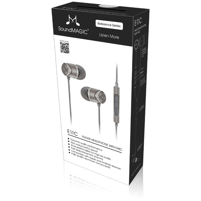 SoundMAGIC E11C In Ear Isolating Earphones with Mic - Silver