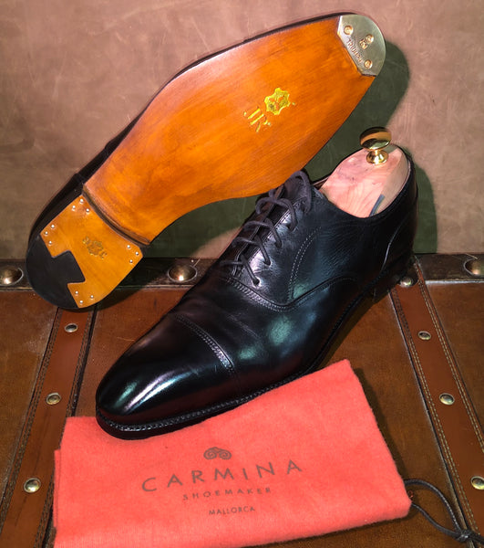 Carmina Shoe Restoration with JR Leather, Triumph French Toe Plates and Saphir Medaille D'Or