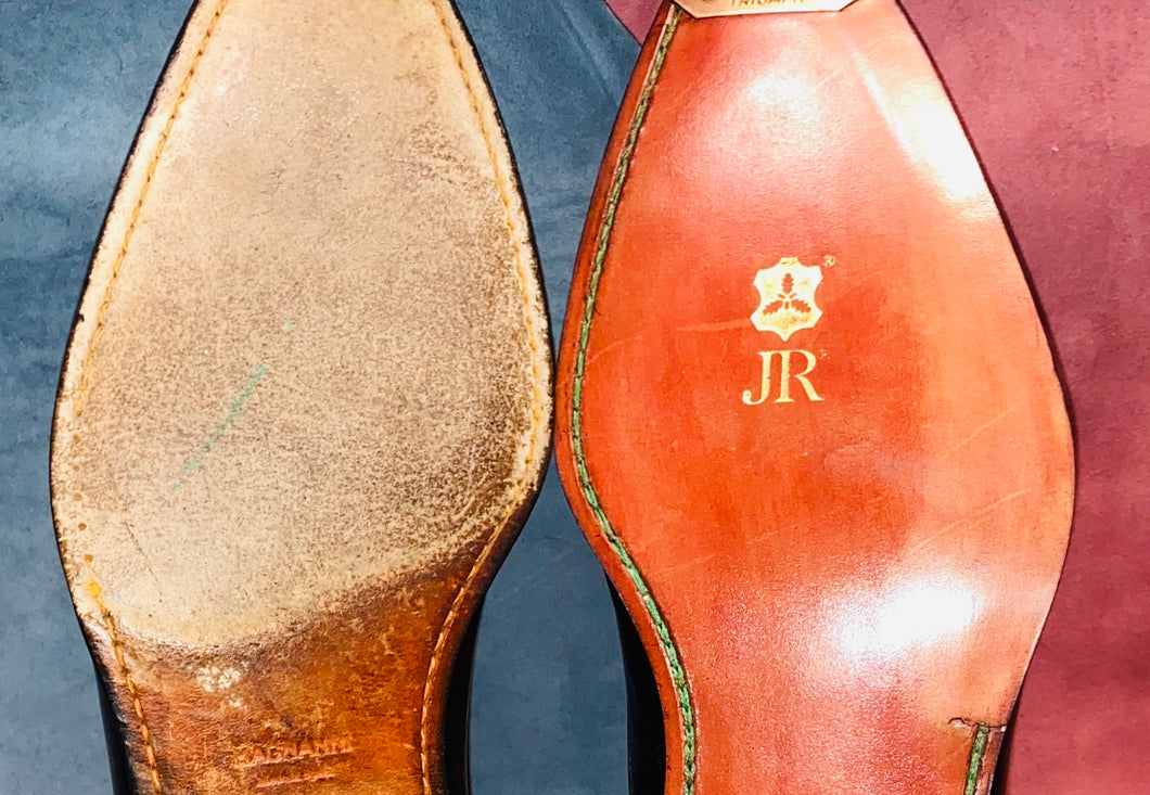JR Rendenbach Oak Bark Leather Full Soles - Blind Stitching