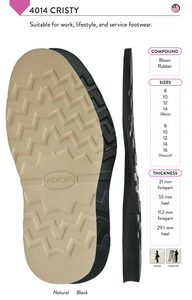 Vibram Cristy 4014 Full Soles