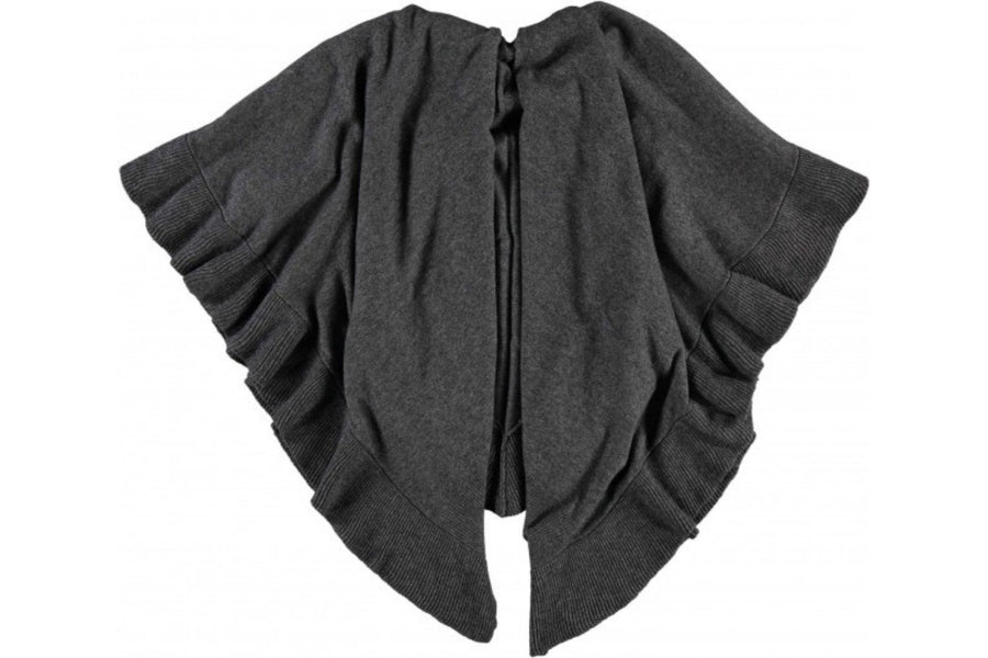 Fraas Charcoal Grey Poncho in a Wool Cashmere Blend