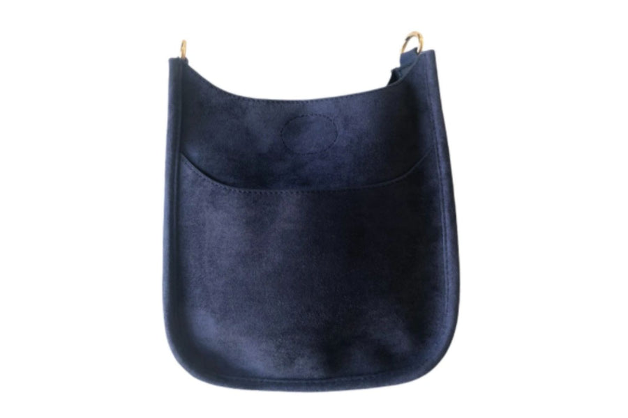 CT Exclusive Mini Suede Messenger Bag in Navy