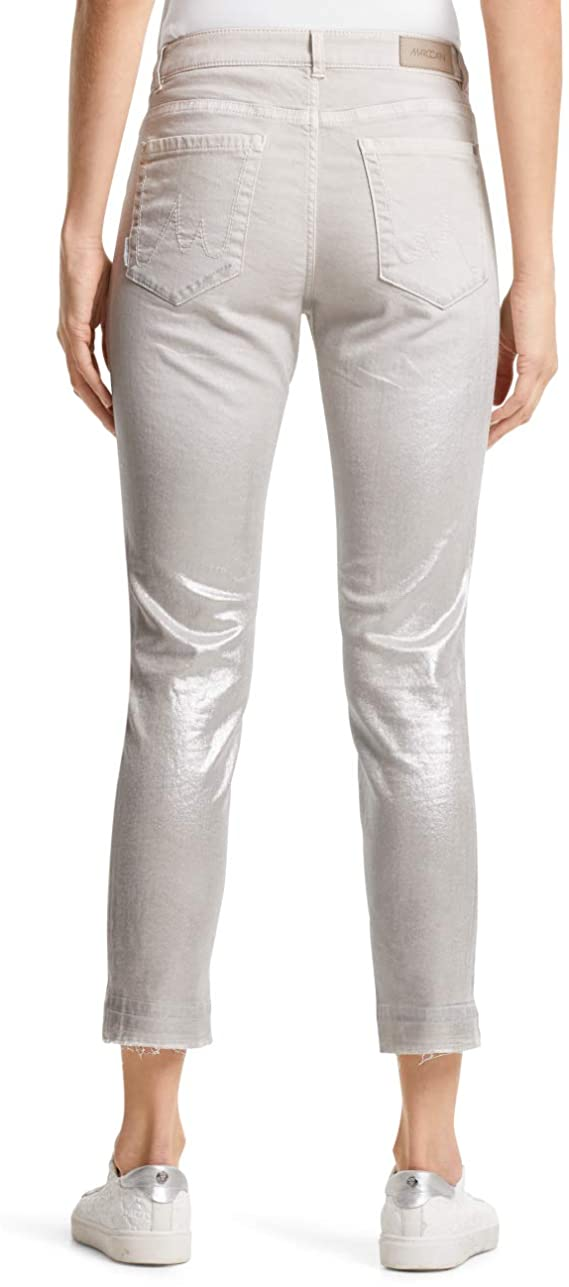 Marc Cain Jeans in Stone with Silver Sheen