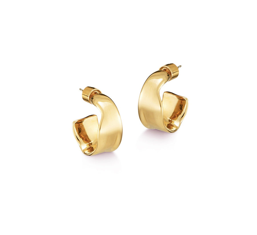 Jenny Bird Ora Small Hoops in Gold