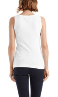 Marc Cain Fine-ribbed Tank in White