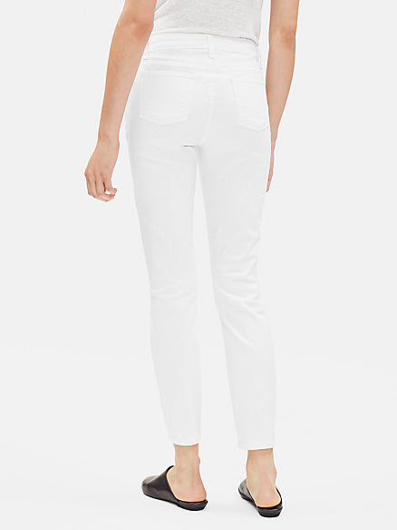 Eileen Fisher System Organic Cotton Slim Ankle Jean in White