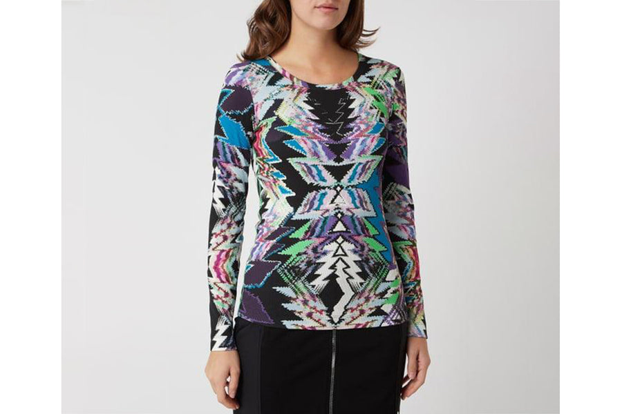 Marc Cain Long-sleeve with Rib Structure