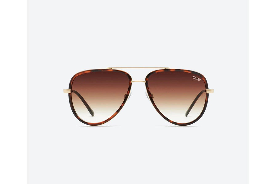 Quay Australia All in Mini Sunglasses in Tort/Brown