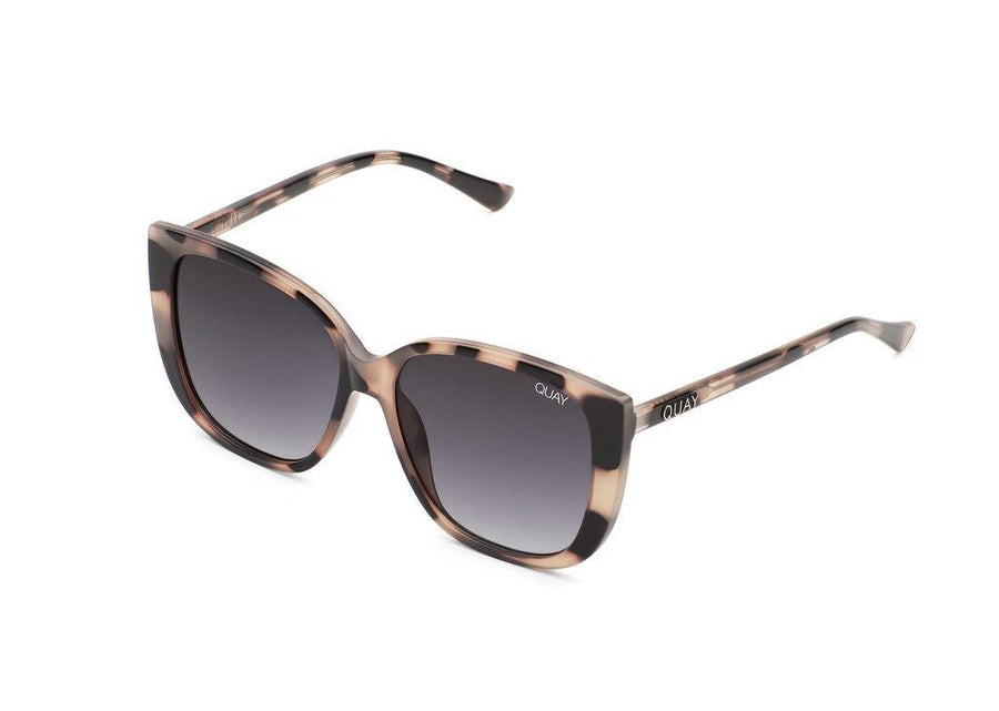 Quay Australia Everafter Sunglasses in Milky Tortoise Smoke