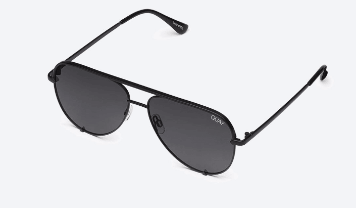 Quay Australia High Key Sunglasses in Black Smoke