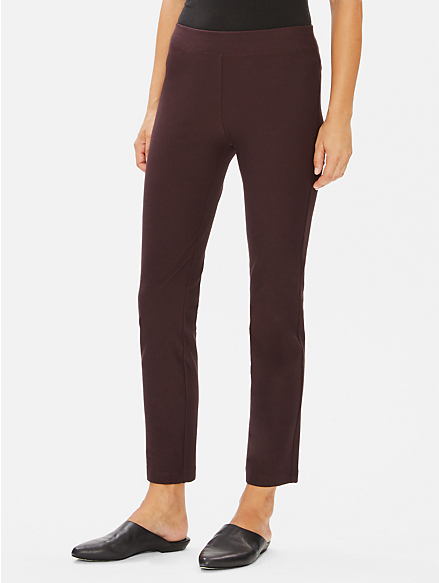 Eileen Fisher Washable Stretch Crepe Slim Pant