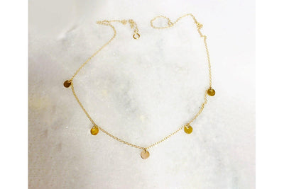 The Right Hand Gal 5 Disc Ray of Sunshine Necklace