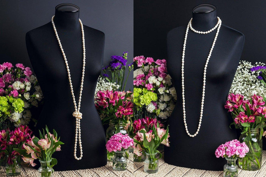 Twoa Extra Long Pearl Necklace