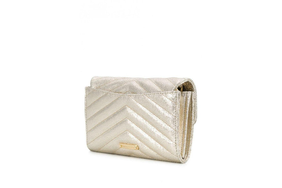 Rebecca Minkoff Edie Leather Wallet in Champagne