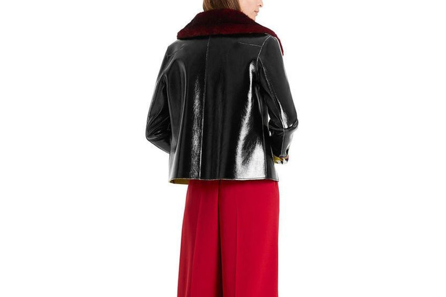 Marc Cain Faux Leather Jacket in a Vinyl Effect