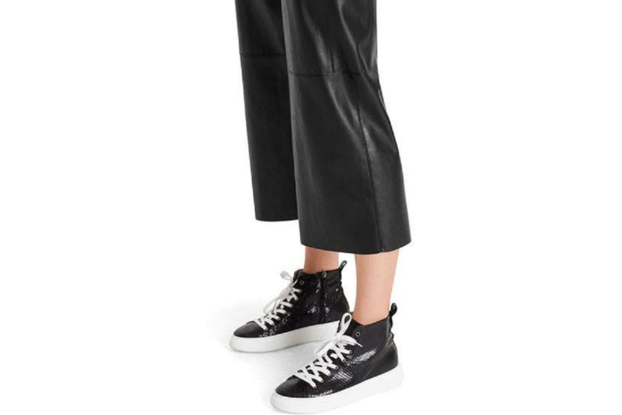 Marc Cain Faux Leather Pants in Culotte Style
